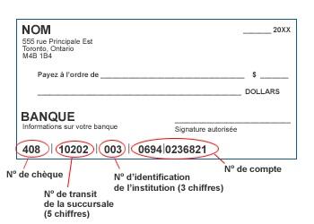 specimen de cheque bmo